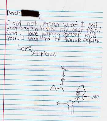 Kid Apology Letter