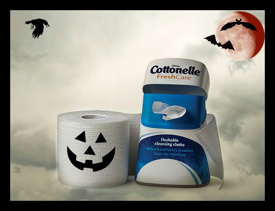 cottonelle, care routine, tp, toilet paper, wipes, halloween