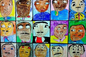 MLK Day drawings by kids