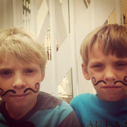 mustache, moustache, movember, kids, boys, men, honea, sons, whit honea, atticus, zane,health, donate