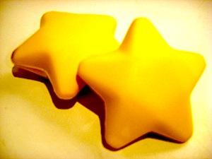 stars, yellow, toy, puffy
