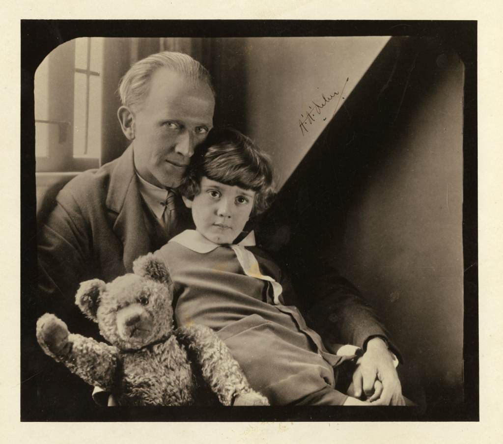 aa milne, christopher robin, winnie the pooh, photograph