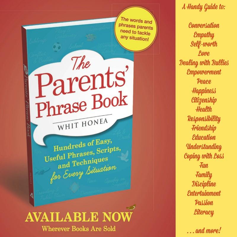 the parents' phrase book, parents, book, phrase, kids, talking, giveaway, conversation, raising kids, advice, expert,