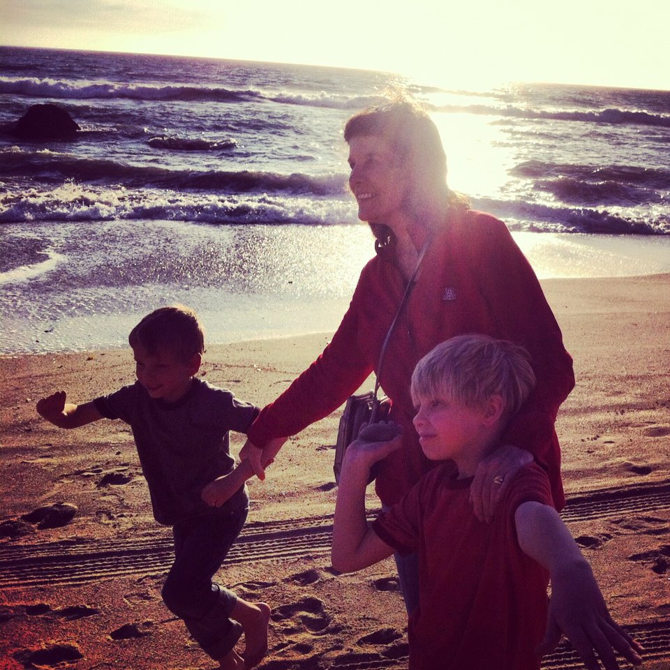 Barbara Coatsworth and grandsons