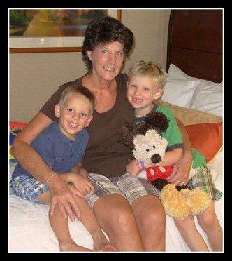Barbara Coatsworth with grandsons